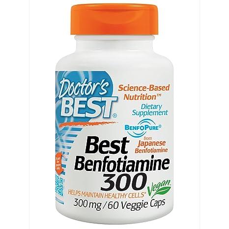 Doctors Best - El mejor magnesio 300 de Benfotiamine. - 60 cápsulas vegetarianas