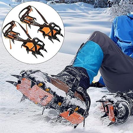 BESTEU - Crampones de hielo profesionales de 12 dientes, para ...