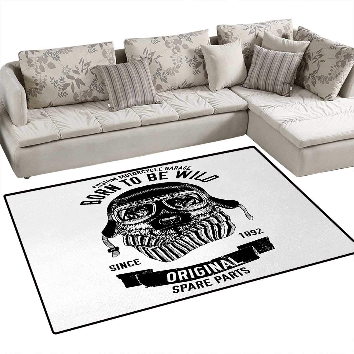 Amazon.com: Modern, Carpet, Born to be Wild Quote with A ...