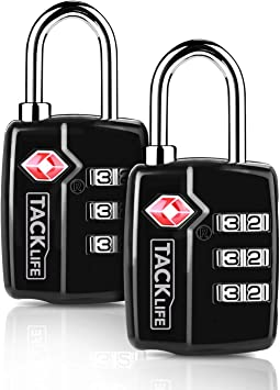 TSA Travel Luggage Lock-1 Pack 3Digit Combination Padlock for Suitcase and Baggage