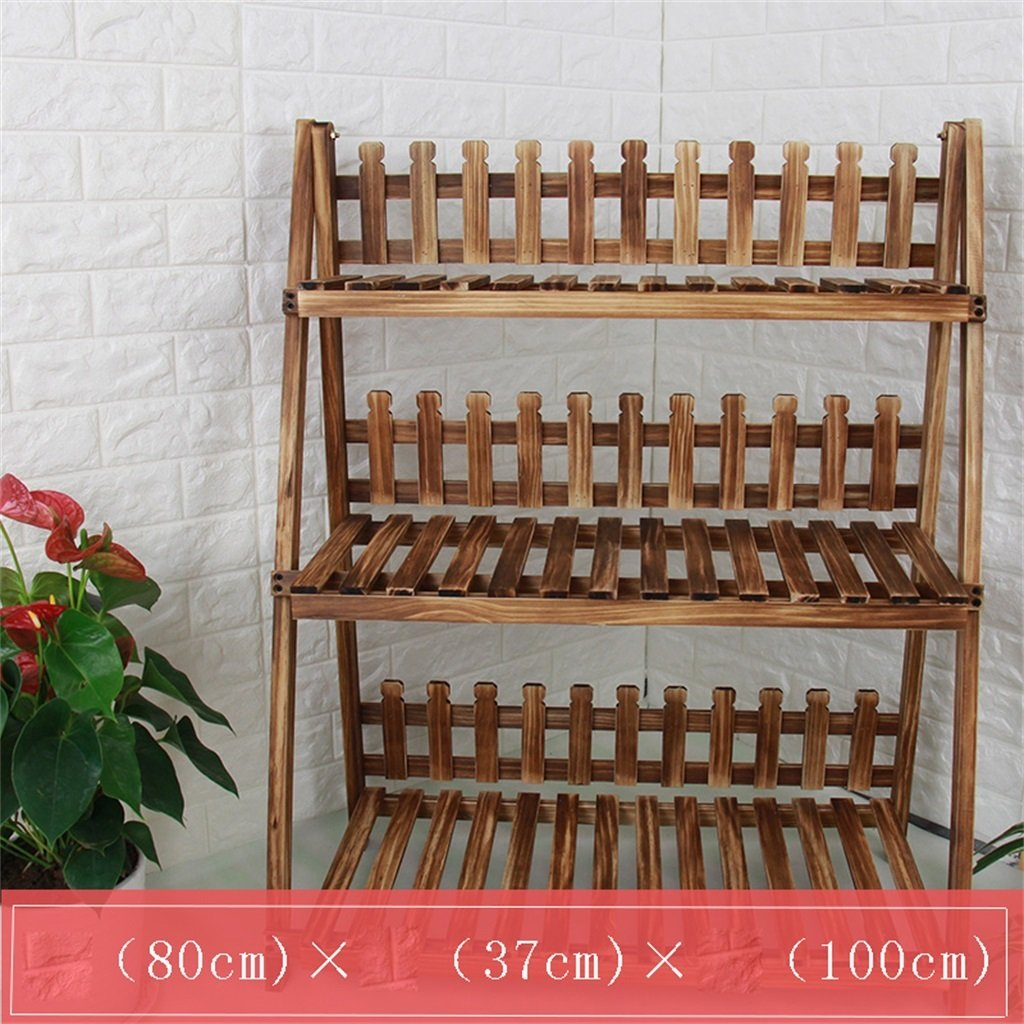 AIDELAI Solid Wood Simple Pastoral Flower Racks Living Room Balcony Decoration Multiple Layers Shelf Flower Pot Rack Patio Garden Pergolas ( Color : #10 )