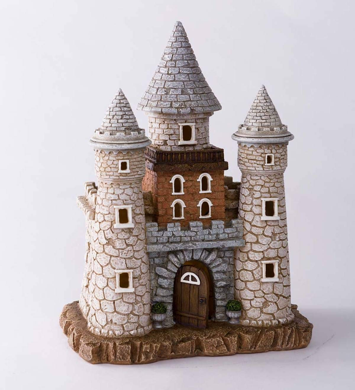 Wind & Weather Solar Lighted Fairy Castle - 9.75 L x 6.75 W x 12.5 H