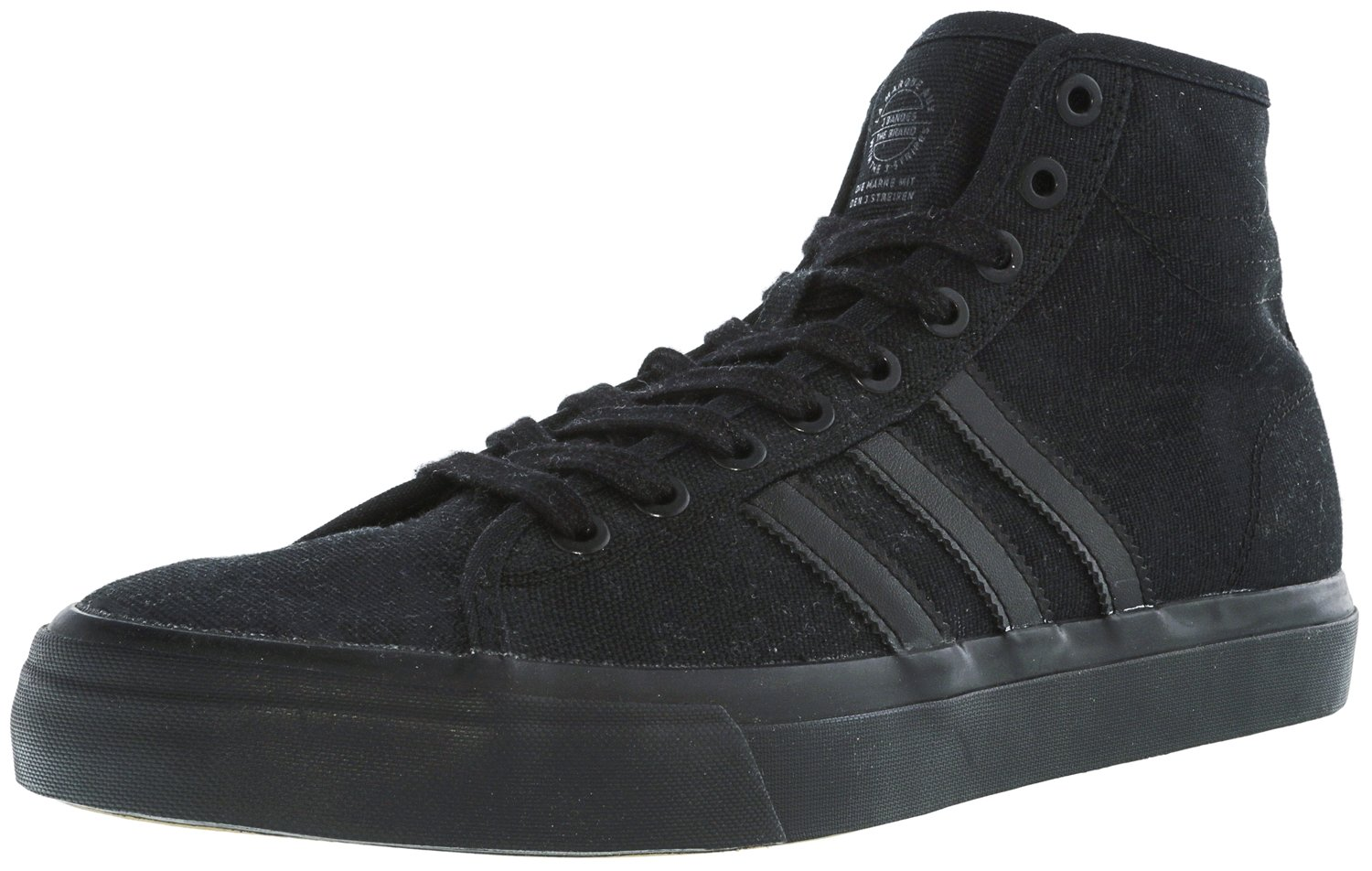 adidas Originals Men's Matchcourt High RX Shoes, Black/Black/Black, (9 M US)