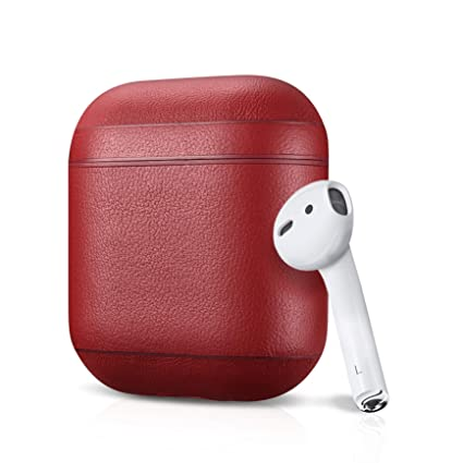 dbf18300289 Amazon.com: Leather Case Apple AirPods, Classic Series - Air Vinyl ...