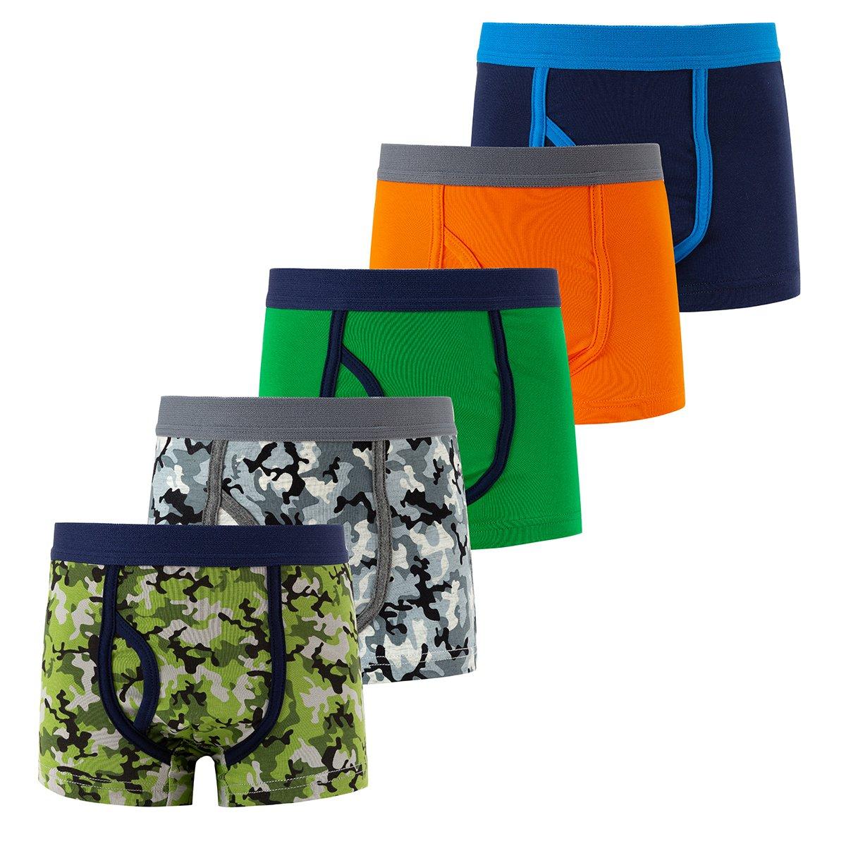 B.GKAKA Boys Boxer Brief Little Spandex Underwear 5 Pack