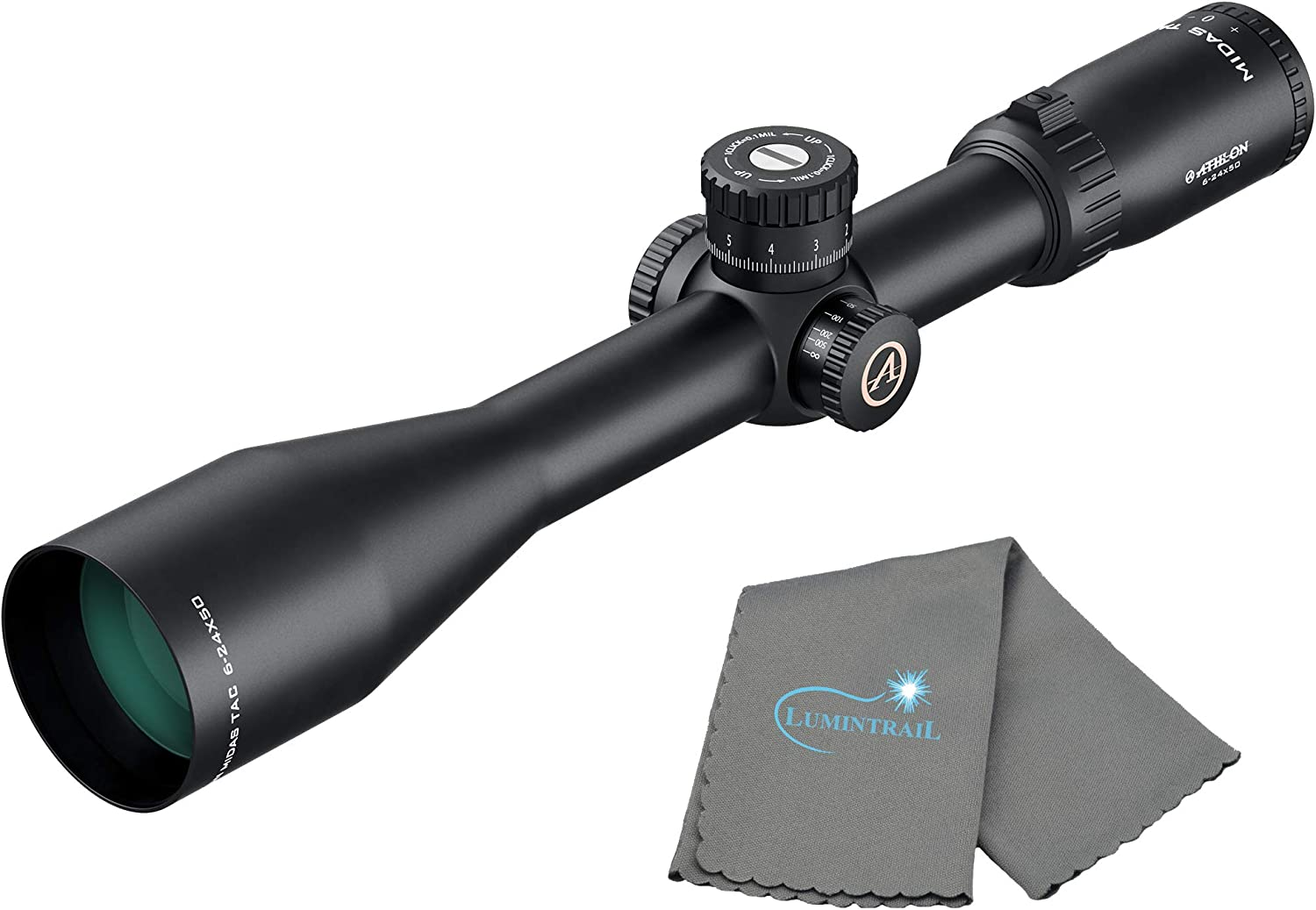 Athlon Optics Midas Tac Rifle Scope 6-24×50 MOA Reticle Bundle