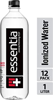 Essentia Water, Ionized Alkaline Bottled Water; Electrolytes for Taste, Better Rehydration, pH 9.5 or Higher, 33.8 Fl Oz, Pac