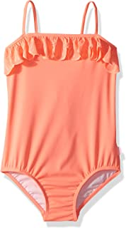 Seafolly Big Girls S//S Zip Front Rash Guard Swimsuit 56398