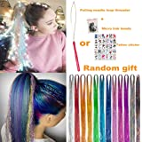 "UPTO 46""Hair Tinsel with Tools 12 Colors 2000 Strands Hair Tinsel Kit Hair Dazzle Glitter Extensions Sparkling Shiny Hair Fla"