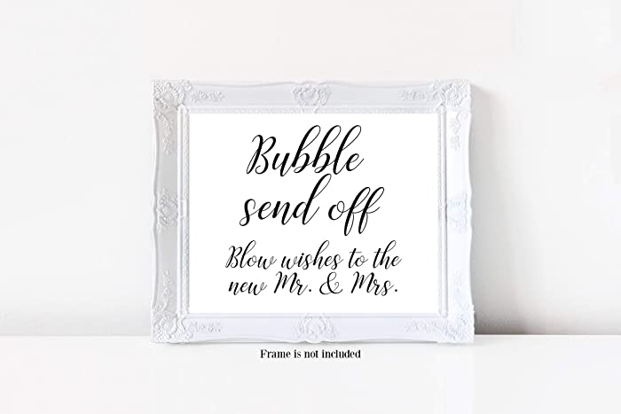 amazon com bubble send off sign blow wishes to the new mr mrs