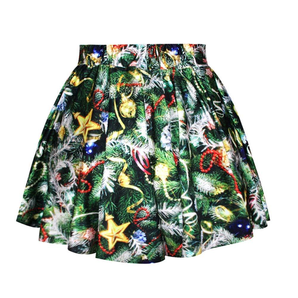 LaSuiveur Girls Christmas Tree Printed Pleated Mini Tutu Skirts by LaSuiveur (Image #2)