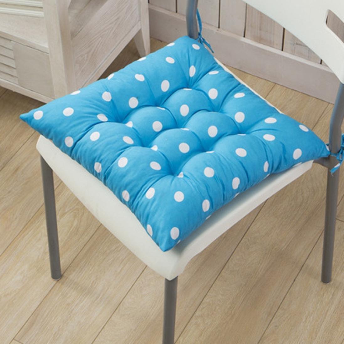 Chairs Cushion,Allywit Soft Chair Cushion Dots Pattern Home Fashions Outdoor Seat Back Chair Cushion (D)