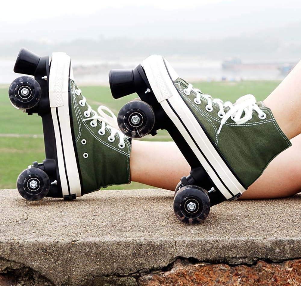 HJUNH Roller Skating Youth Straight Line Roller Skating Adult Mens Womens Roller Shoes College Student Beginner