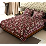 Home Candy Glow in the Dark Designer Cotton Double Bedsheet with 2 Pillow Covers - Pink