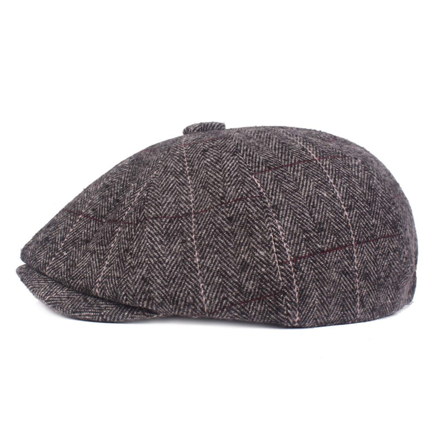 1f49576b96f Autumn Men s Hat Warm Berets Simple Flat Cap for Men Elastically Adjustable  Brands Winter Dad s Hats Coffee at Amazon Men s Clothing store