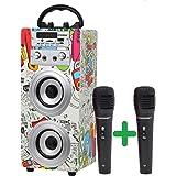DYNASONIC - (3ª Gen) Altavoz Bluetooth TWS Incorporado, Altavoz Portatil con Modo Karaoke y Micrófono, Radio FM y Lector…