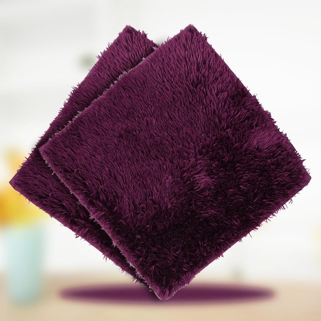 Winkey Alfombra de suelo de 30 x 30 cm, absorbente, suave, para baño, dormitorio, alfombra de ducha cuadrada, antideslizante, F, Size: 30x30cm: Amazon.es: ...