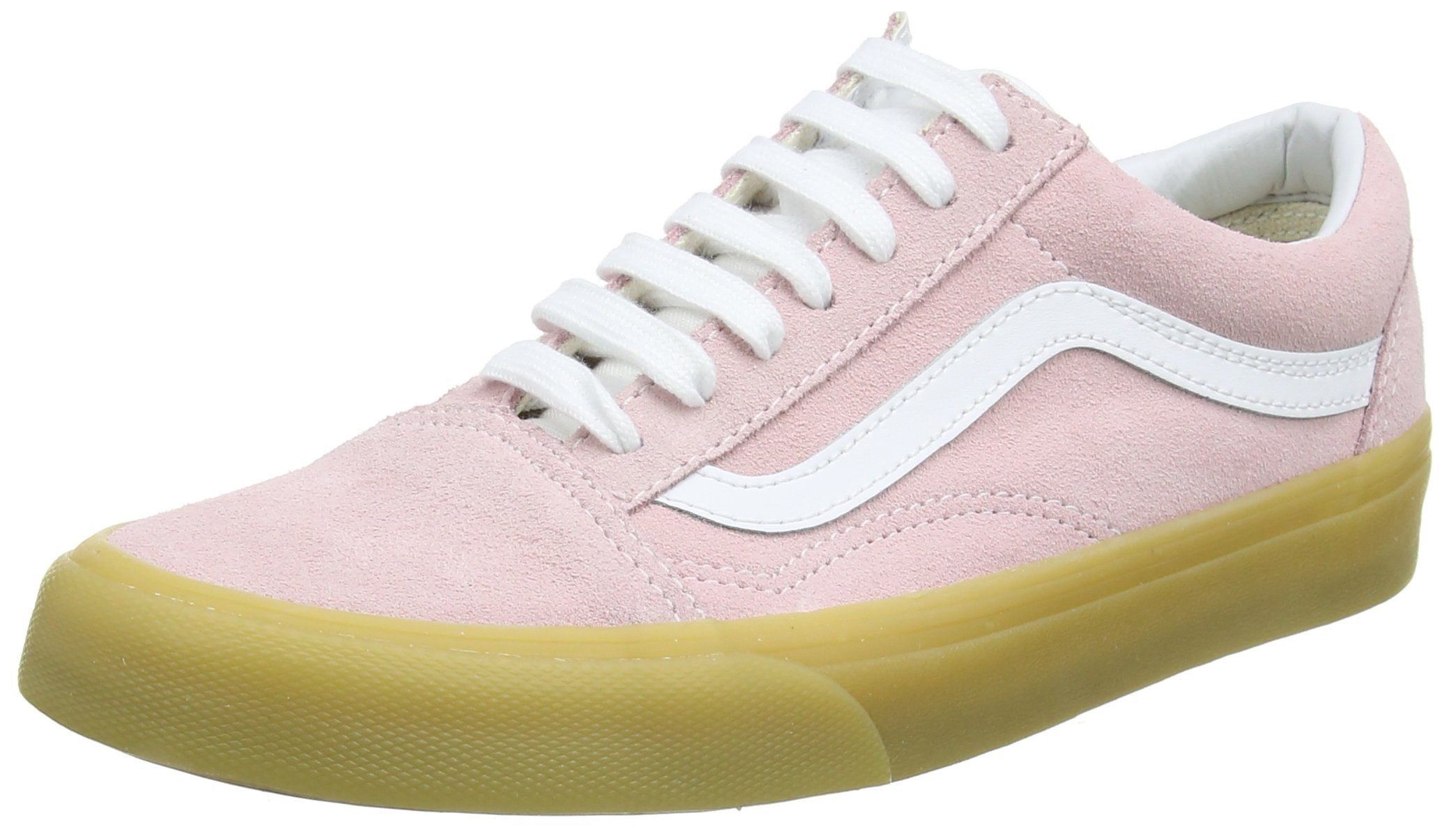 df0efef470a8eb Galleon - Vans Old Skool Double Light Gum Womens Trainers Pink White - 4.5  UK