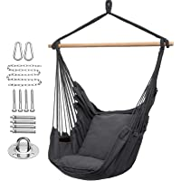 Deals on Y- STOP Hammock Chair Hanging Rope Swing Max 320 Lbs