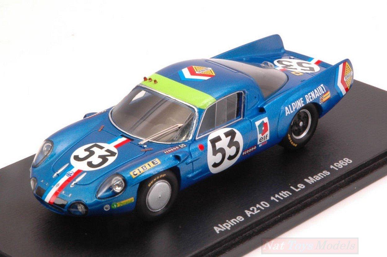 Spark Model S4374 Alpine A210 N.53 11th LM 1968 B.WOLLEK-C.ETHUIN 1:43 Die Cast