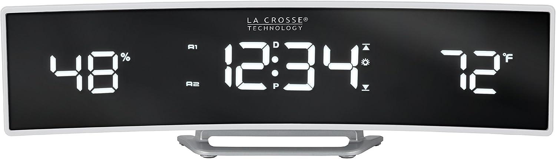 La Crosse Technology 602-247 Alarm Clock, Pack of 1, White