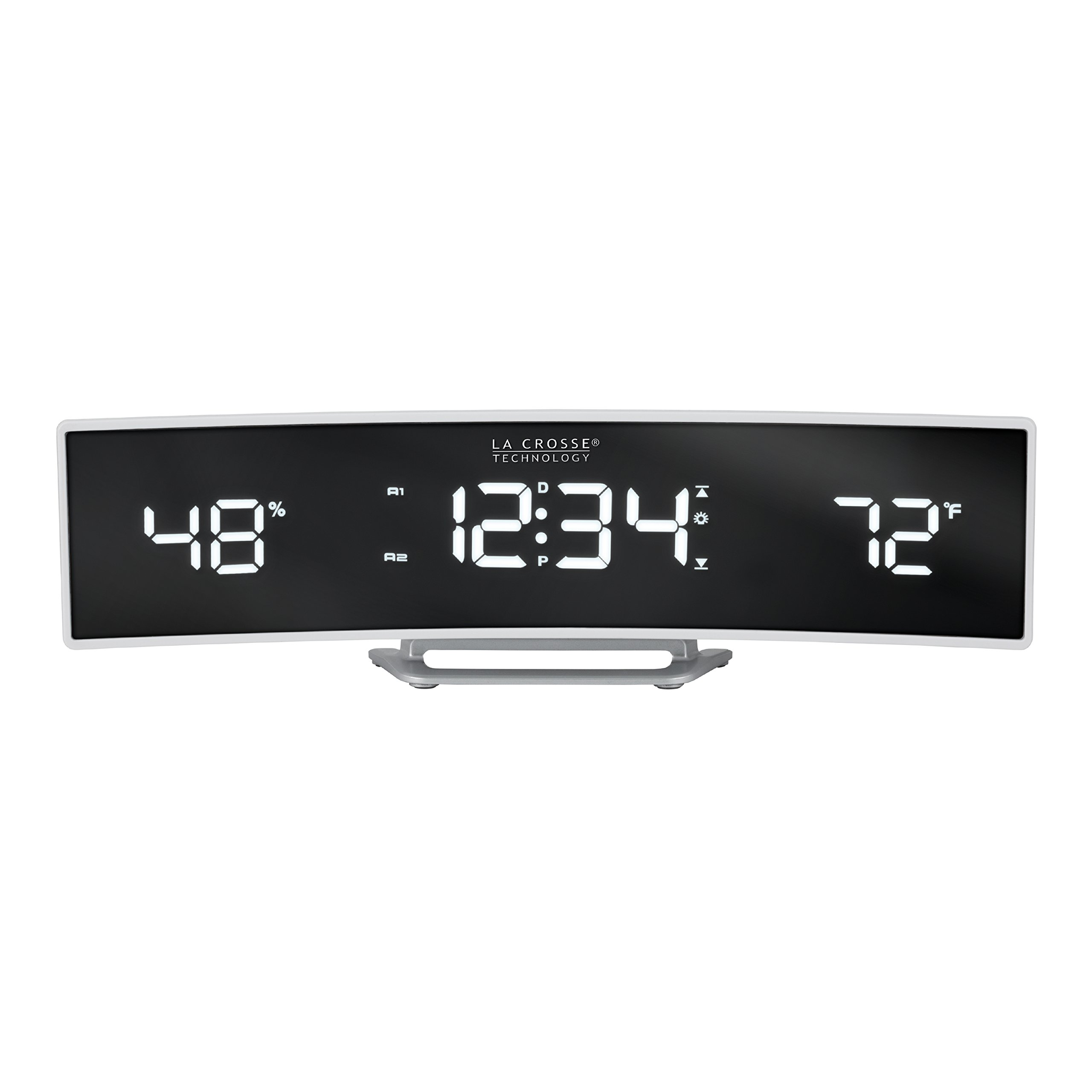 La Crosse Technology 602-247 Alarm Clock, White