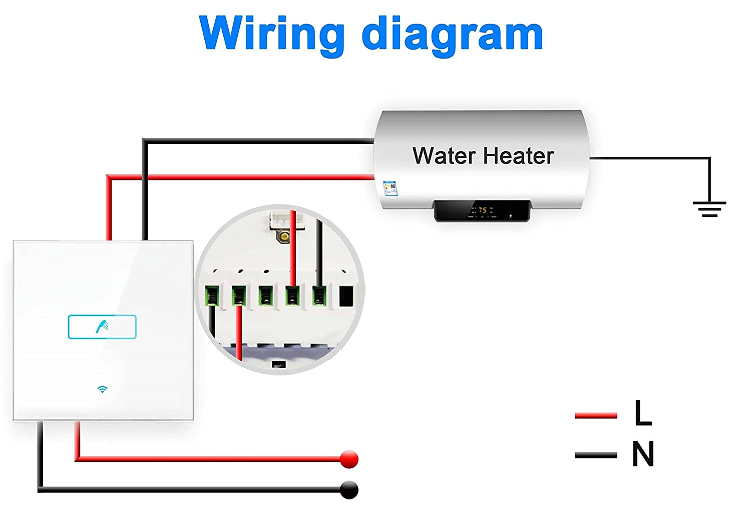 WiFi Smart Immersion Water Heater Switch Timer 13A on