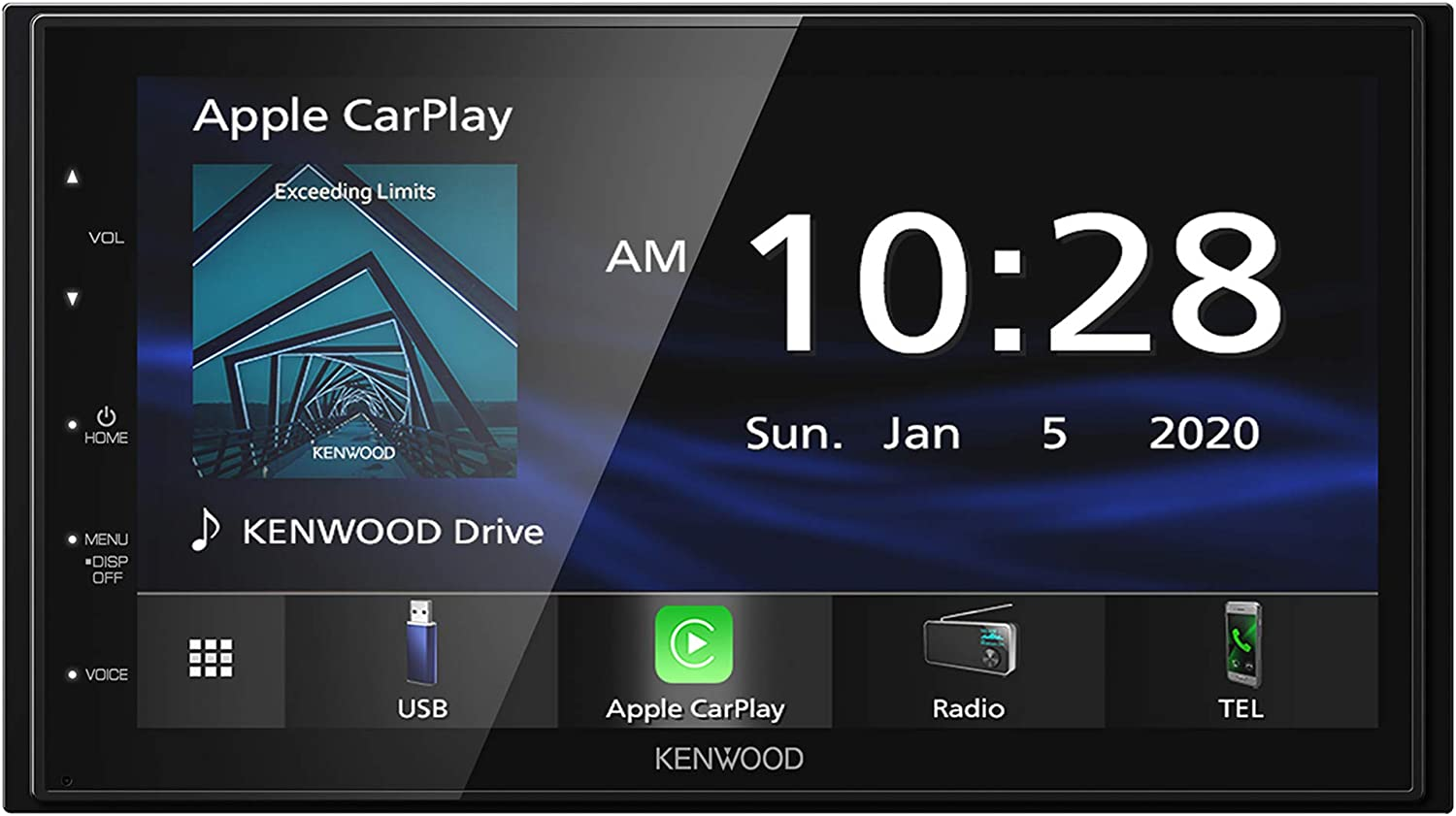 "Kenwood DMX47S Mechless 6.8"" Capacitive Screen Digital Multimedia Receiver with Apple CarPlay & Android Auto Functionality (Does Not Play CDs)"