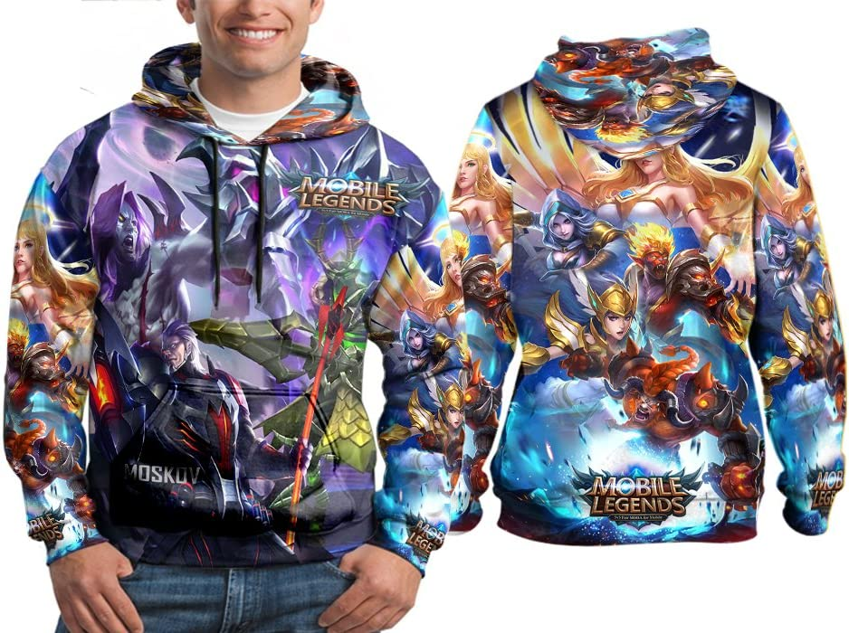 S to 3XL Moskov Dangerous Attack Build Mobile Legends Online Game Style Print Sublimation Man Top Size