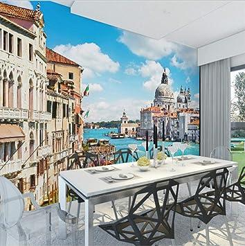 Carta Da Parati 3D Venezia Costruzione Grande Parete Pittura ...