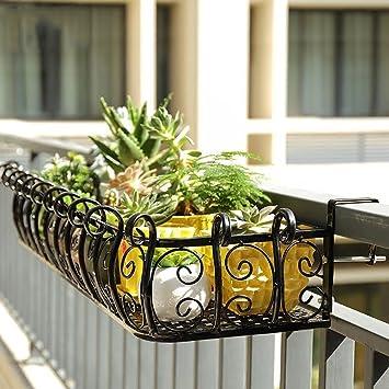 Blumenregal ZJM Eisen Balkon Handlauf hängen Kreative Lagerung Regal ...