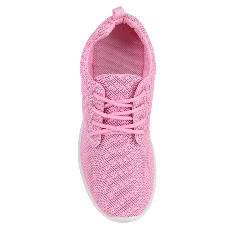 Stiefelparadies Unisex Laufschuhe Damen Herren Kinder Sportschuhe Laufschuhe Unisex Übergrößen Flandell Pink Pink Weißs 188cd8