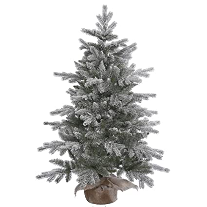 vickerman unlit frosted sable pine artificial christmas tree 48