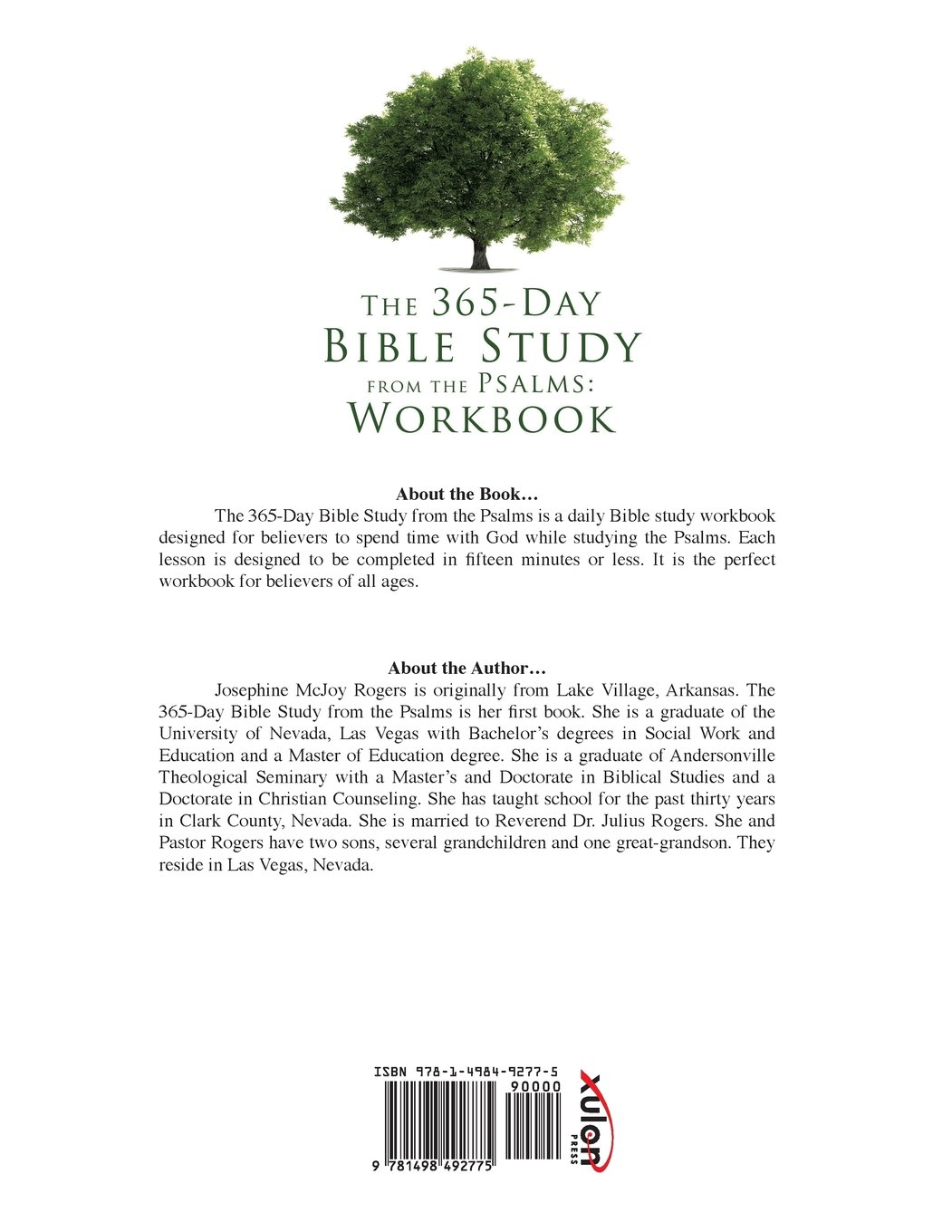 The 365-Day Bible Study from the Psalms: Workbook: Josephine McJoy ...