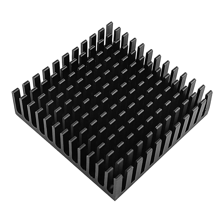 10 Unidades IC 40 x 40 x 11 mm LED Disipador de Calor de Aluminio para GPU Silverbead VRAM