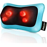 mocuishle eléctrico masajeador de amasamiento almohada alivio de fatiga muscular para espalda, cuello, hombros, cabeza…