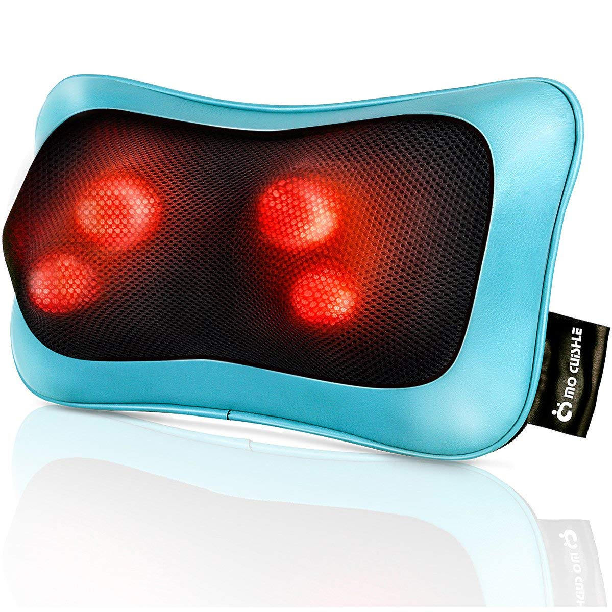 Shiatsu Neck Back Massager Pillow with Heat - Deep Tissue Kneading Massage for Back, Neck, Shoulder, Leg, Foot - Perfect Gift for Men/Women/Mom/Dad, Stress Relax at Home Office and Car by Mo Cuishle
