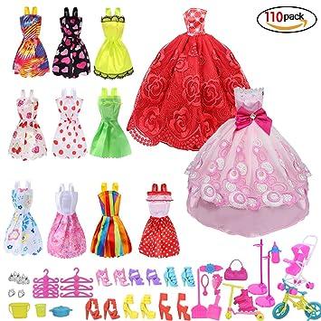 Runfon Accesorios para Barbie,Accesorios de Vestir para Las Muñecas de Barbie, 10pcs Verano