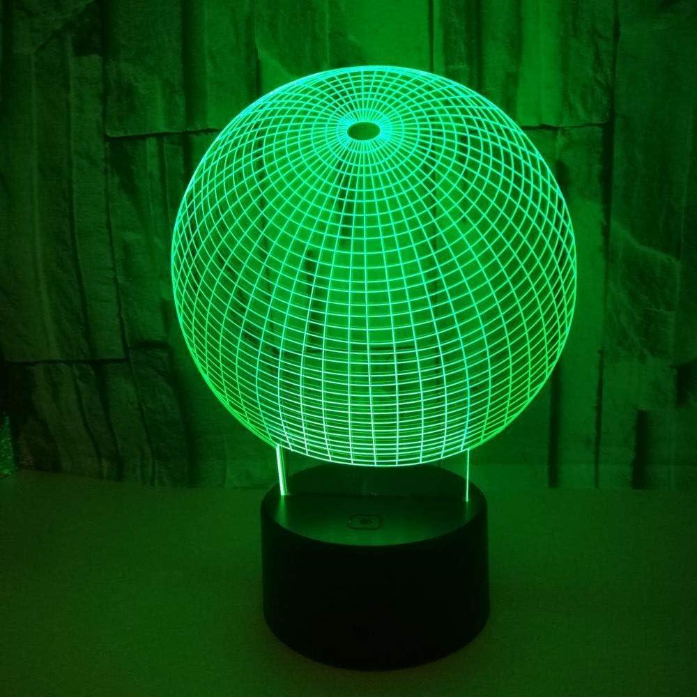 BFMBCHDJ Nuevo resumen esférico 3D Led colorido luz de la noche ...