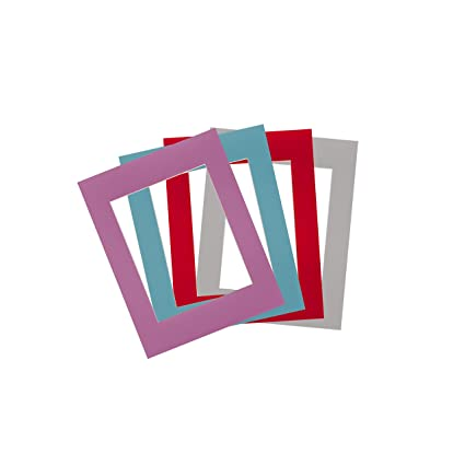 Mat Set for 8x10s Photo Frame with Four Colors Purple, Red, Blue, Grey