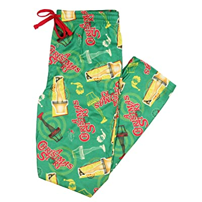A Christmas Story Bioworld Leg Lamp Flannel Sleep Pajama Pants (Large) Green at Amazon Men's Clothing store