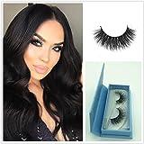 Mink 3D Lashes Cross Makeup Strip Lashes 100% Siberian Fur Fake Eyelashes Hand-made False Eyelash 1 Pair Package Miss Kiss 3D02
