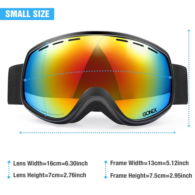 Gonex Niños Gafas de esquí, Anti Niebla 100% UV protección Gafas de Nieve para niños y niñas niños Infantil con Funda: Amazon.es: Deportes y aire libre