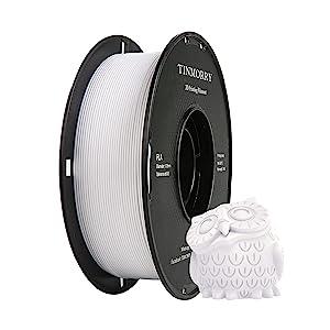 PLA Filament 1,75 mm, TINMORRY Imprimante 3D Filament 1 kg Spool, Blanc