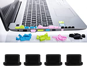 GIYOMI 56Pcs General Laptops Silicone Anti-dust Stopper/Plug with Type - c dustproof Plug, Laptop Port Covers,Not for Apple Laptops(4 Sets x 13-Pieces Per Set)
