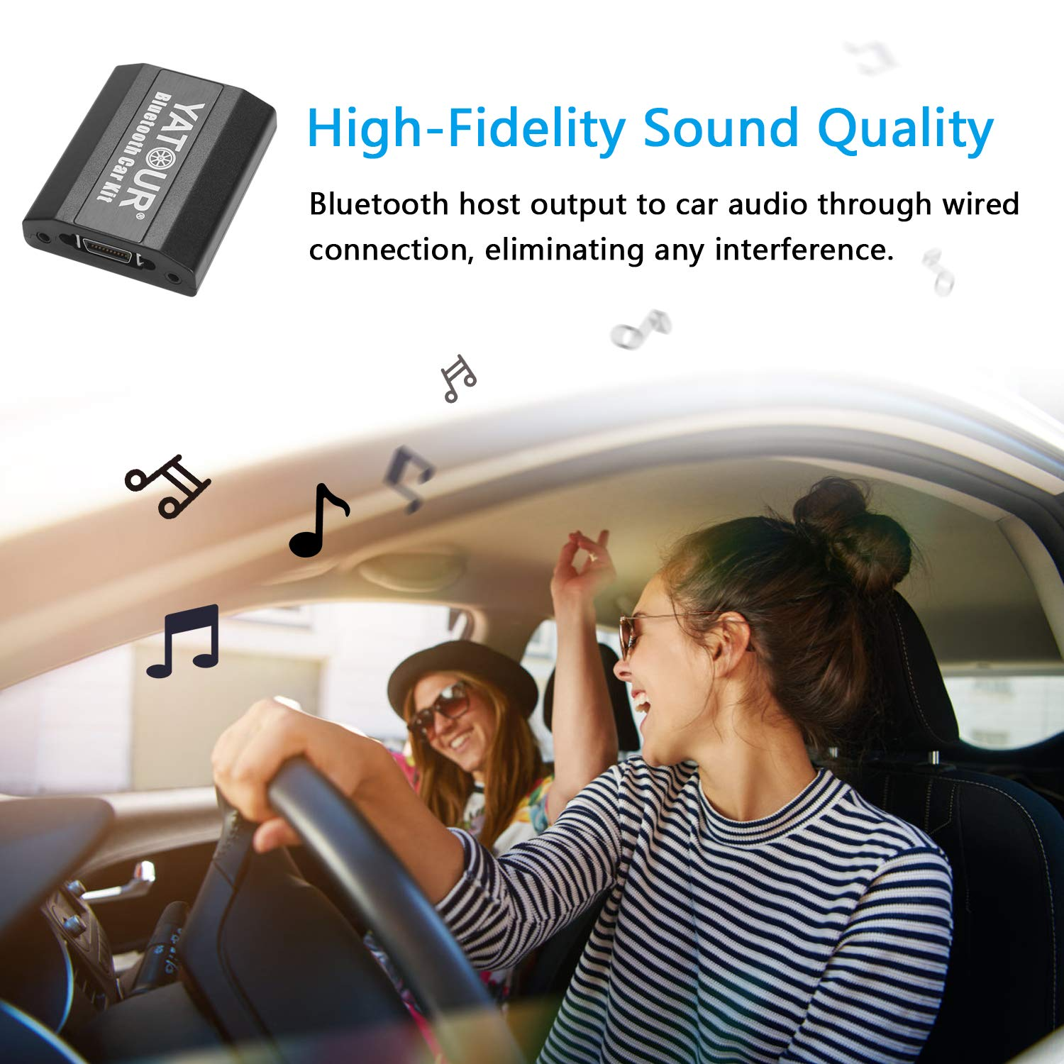 Yatour Digital Music CD Changer Car Adapter Hands Fress Call Adapter Compatible with Bluetooth Function for Toyota and Lexus Series