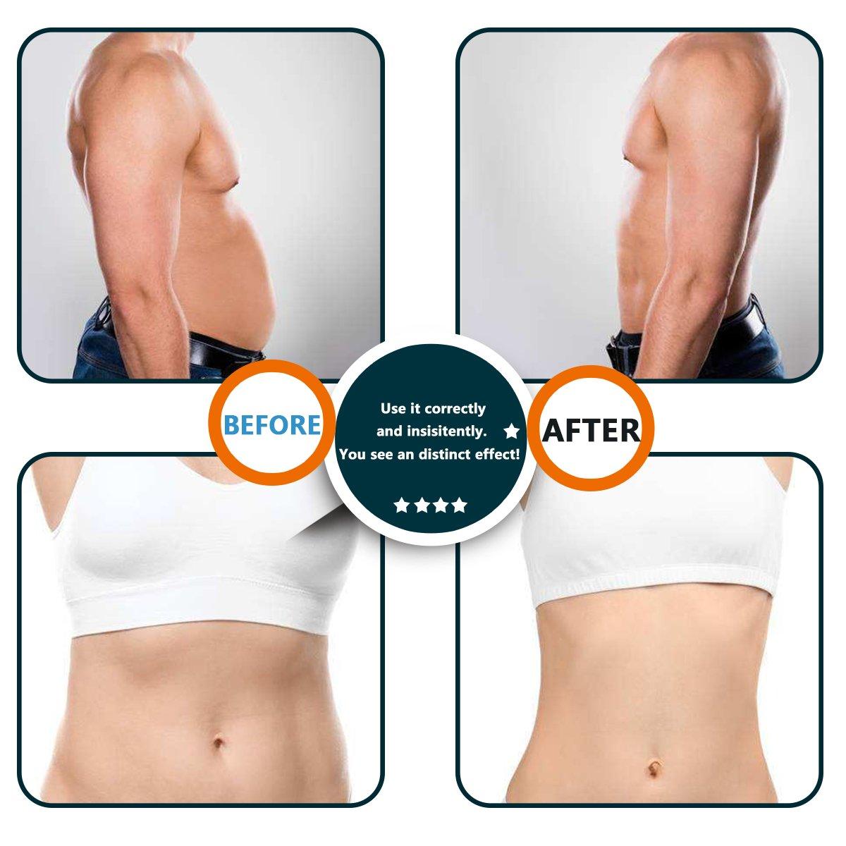 ABS Stimulator Trainer Fitness Workout Abdominal Toning Belt Muscle Toner 10 Gel