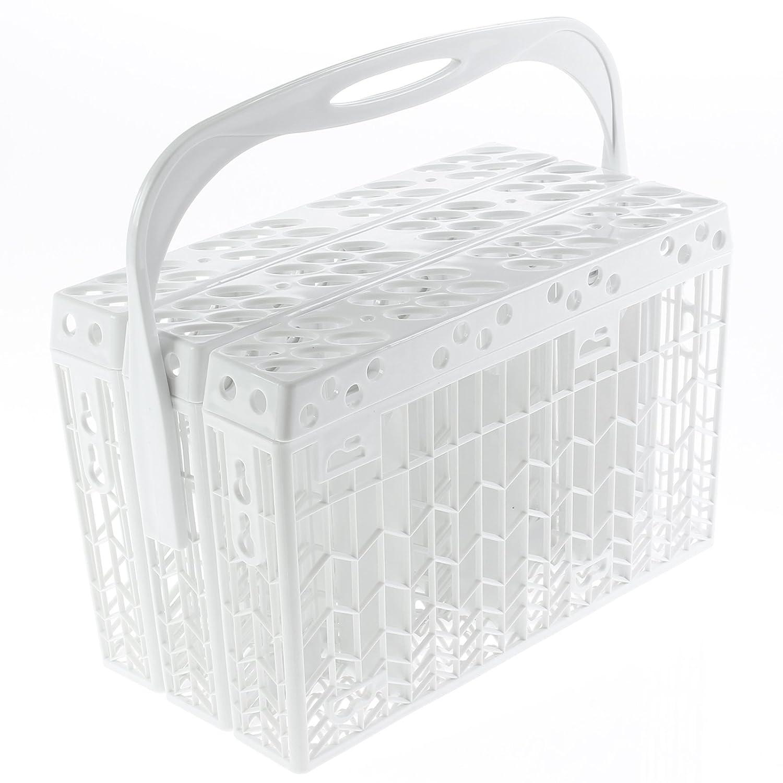 Spares2go Cubiertos Cesto plástico accesorio de tapa y asa para ...