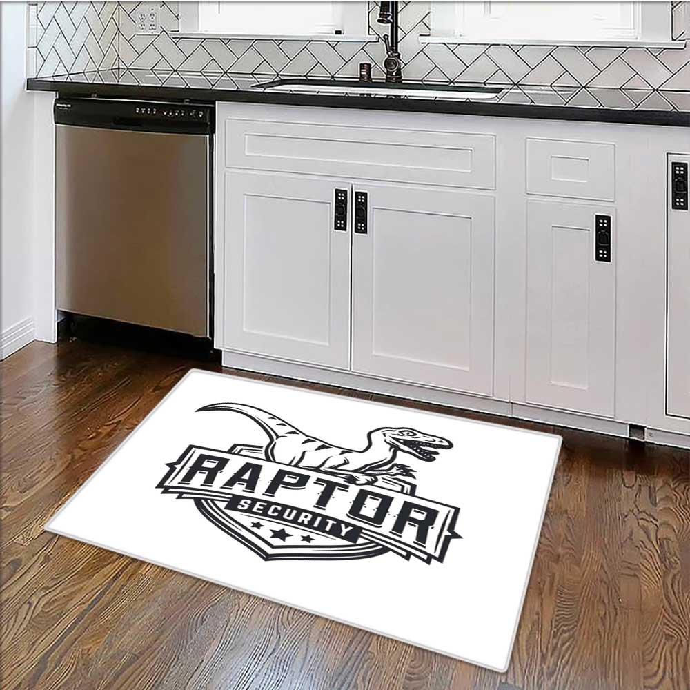 Soft Microfiber Shag Bath Rug raptor sport logo mascot design vintage college team coat Weather-Proof and Mold W30'' x H18''