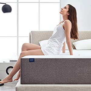 """Narrow Twin Mattress, Molblly 6 Inch Memory Foam Mattress in a Box, Breathable Bed Comfortable Mattress for Cooler Sleep Supportive & Pressure Relief, Narrow Twin Size Bed, 30"""" X 75"""" X 6"""""""